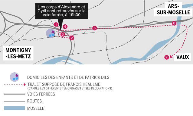 Carte de Montigny-les-Metz