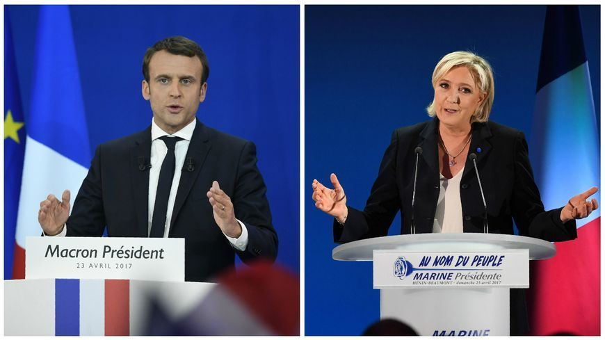 Emmanuel Macron et Marine Le Pen sont au second tour de l'élection présidentielle 2017