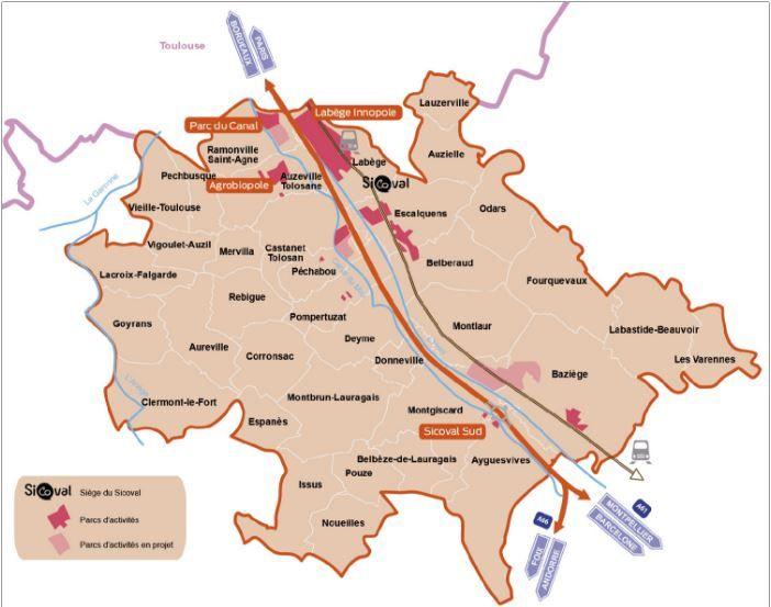 Carte du Sicoval, l'agglo au sud de Toulouse : taux  moyen de participation dimanche pour les 36 communes, 89% !