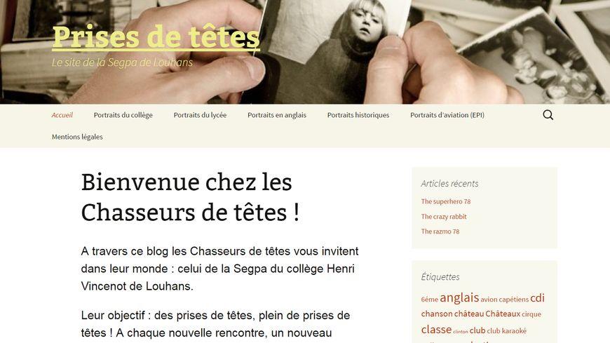Prises de têtes, le blog des élèves de la 5è SEGPA du collège Henri Vincenot à Louhans en Saône-et-Loire