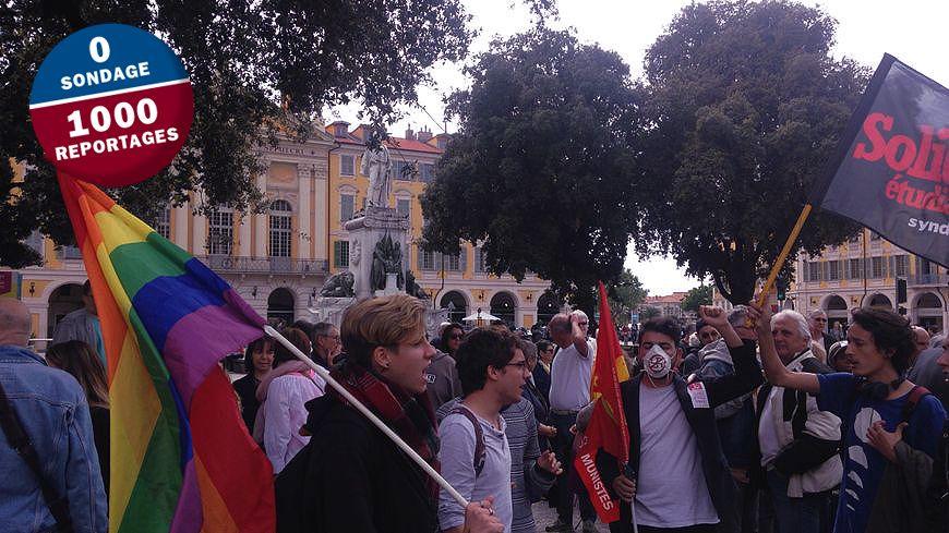 200 personnes étaient rassemblées ce dimanche sur la place Garibaldi de Nice contre le Front national.