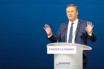 Nicolas Dupont-Aignan au meeting de la candidate Front National, Marine Le Pen - Parc des expositions de Villepinte - 1er mai 2017