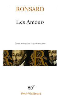 Couvertures des Amours - Pierre de Ronsard - éditions Gallimard