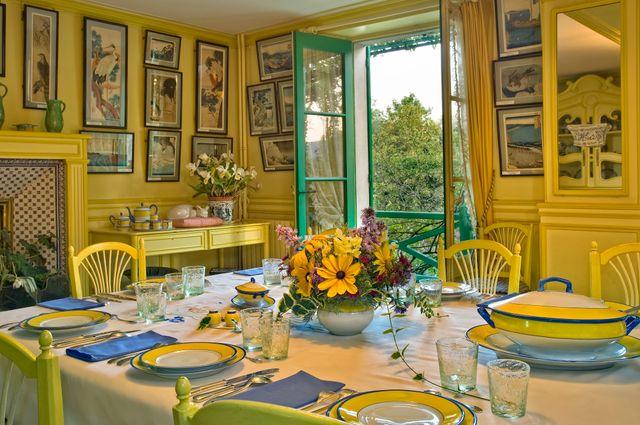 La salle à manger de la maison de Giverny