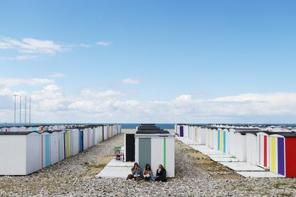 Cabine sur la plage du Havre