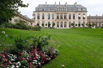 Les jardins de l'Elysée.