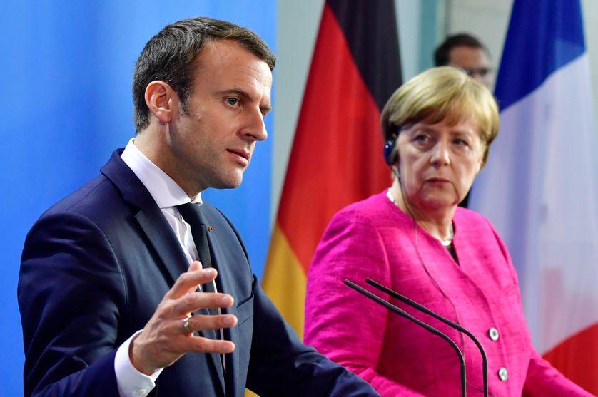 Emmanuel Macron et Angela Merkel à Berlin le 15 mai 2017