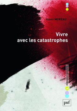 Yoann Moreau, Vivre avec les catastrophes (PUF, 2017)