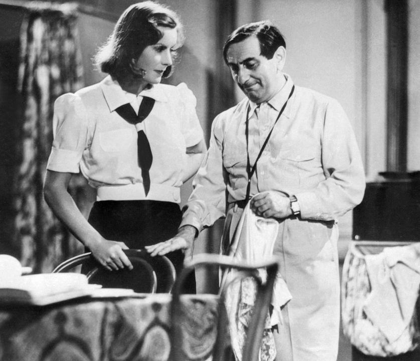 """Greta Garbo et Ernst Lubitschn, 1939, Tournage de """"Ninotchka"""""""