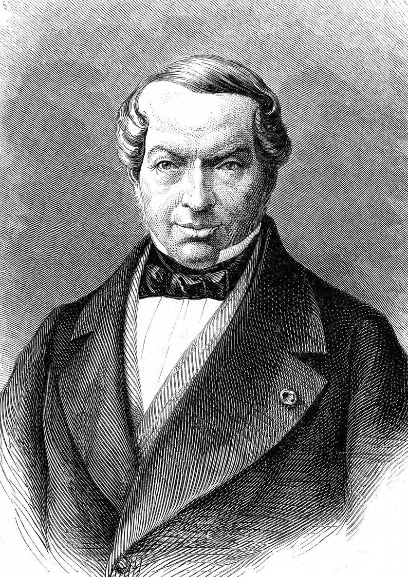 Portrait de James de Rothschild (1792-1868), banquier fondateur de la branche de Paris de la famille Rothschild.