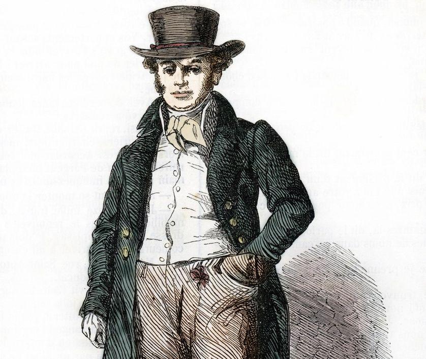 César Birotteau dans le roman du meme nom d'Honoré de Balzac, 19eme siecle Collection privée