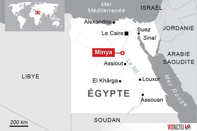 Au moins 26 personnes dont plusieurs enfants ont été tuées vendredi alors qu'ils se rendaient en bus dans un monastère copte, dans la province de Minya