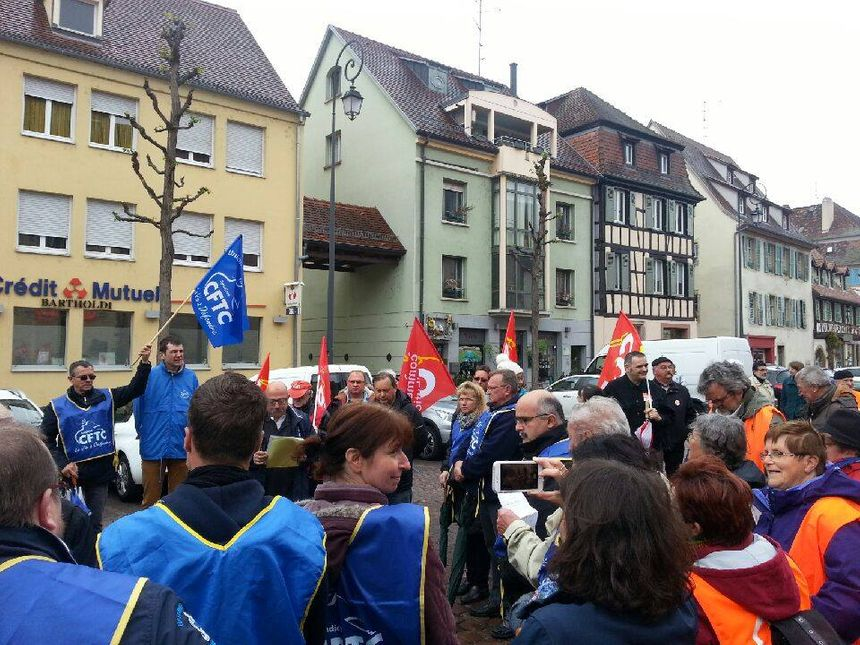 Manifestation à Colmar, le 1er mai 2017