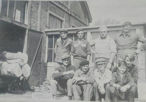 Scierie de Beaumont le Roger en 1959