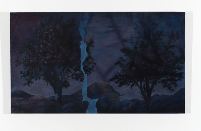 """""""Les Augures 7"""", huile sur bois, production Labanque"""