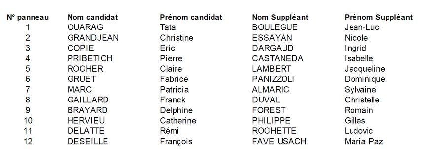 Les candidat(e)s dans la 2e circonscription de Côte-d'Or