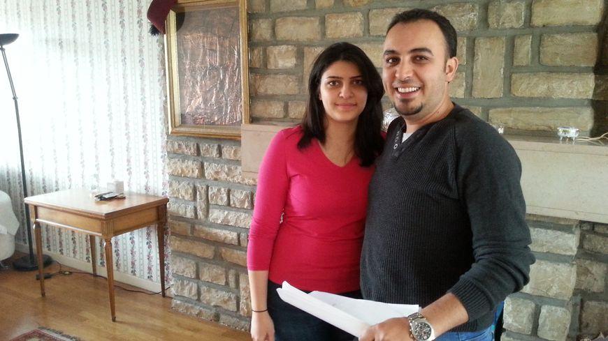 Ahmed-Reda Sawan et son épouse Shahd-Zanabili, ont trouvé refuge à Dijon, l'ancien professeur de Français à Alep cherche un éditeur pour publier le récit de leur exil forcé