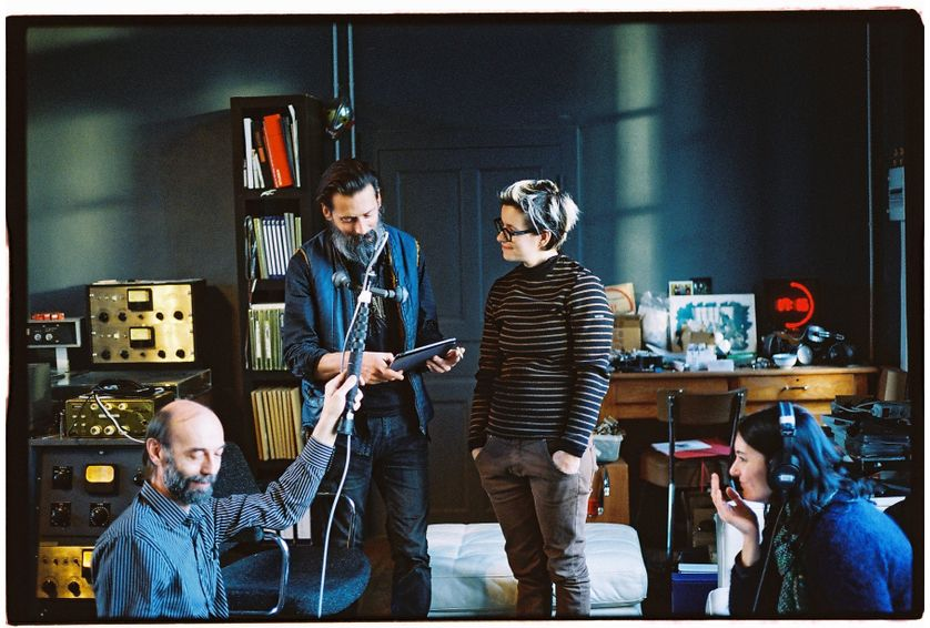 Claude Niort, Christophe Chavanon, Marion Leclerq, Marie-Laure Ciboulet au Studio Kerwax