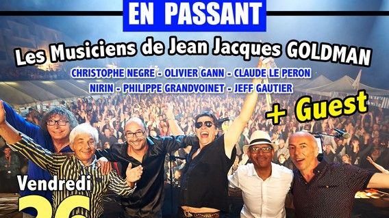 Les musiciens de Jean-Jacques Goldman sont en concert.