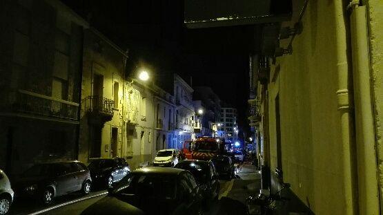 La rue Général Legrand bloquée cette nuit dans le centre de Perpignan