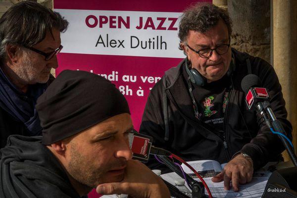 Armand Meignan, Adreas Schaerer et Alex Dutilh à l'Abbaye de l'Epau au Mans dans le cadre de Europajazz
