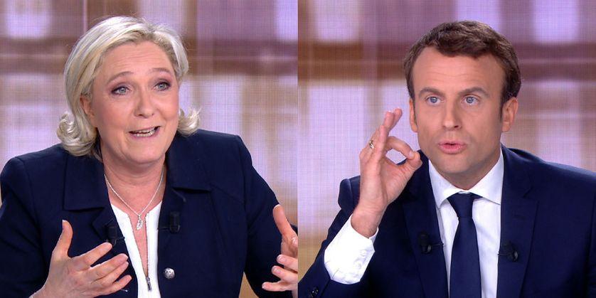 Marine Le Pen et Emmanuel Macron s'affrontent lors du débat de l'entre-deux-tours, mercredi 3 mai 2017