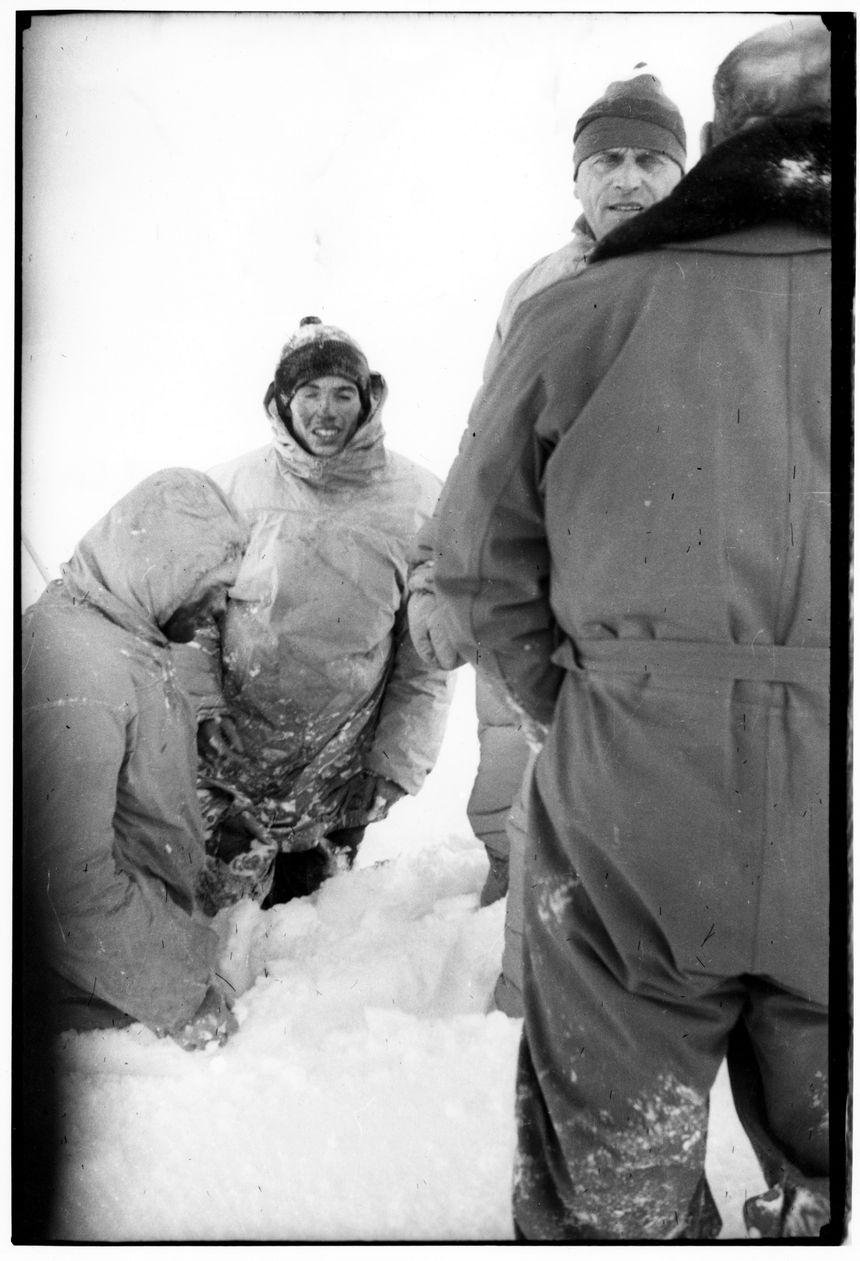 Vincendon et Henry(à gauche) une des dernières photos prises par les sauveteurs.