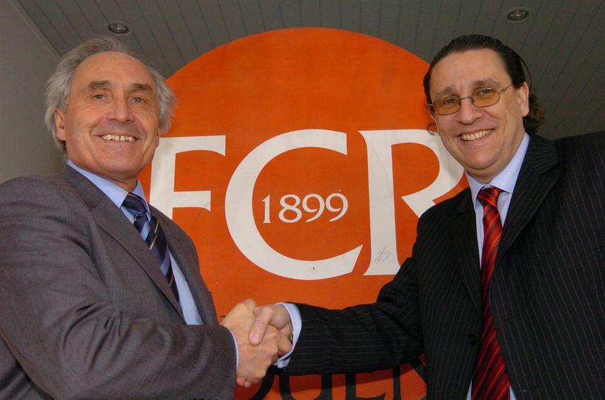 Pascal Darmon (à droite) avait succedé à René Bertin à la présidence du FCR en 2005