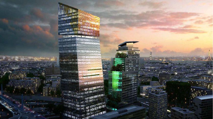 """Les travaux de construction des """"Tours DUO"""" dans le 13e arrondissement de Paris devraient durer trois ans."""