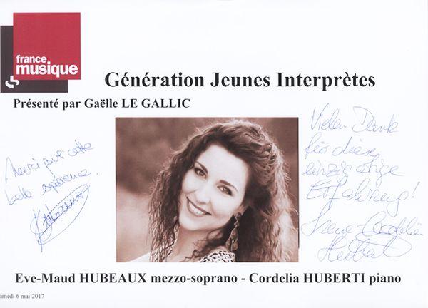 Livre d'Or Eve-Maud Hubeaux / Cordelia Huberti