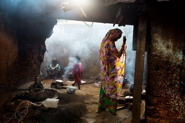 """Enclave musulmane de Boda - image tirée du livre photo """"RCA"""" de William Daniels"""