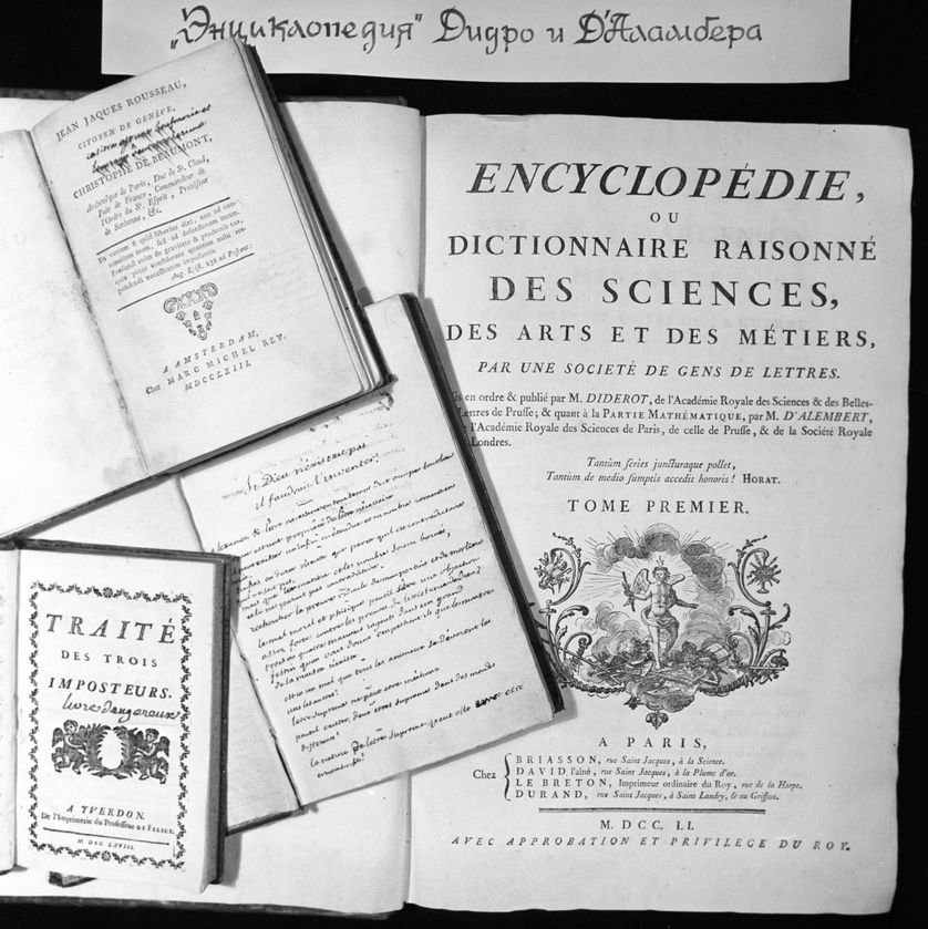Ouvrages de la bibliothèque de Voltaire, Saint-Pétersbourg