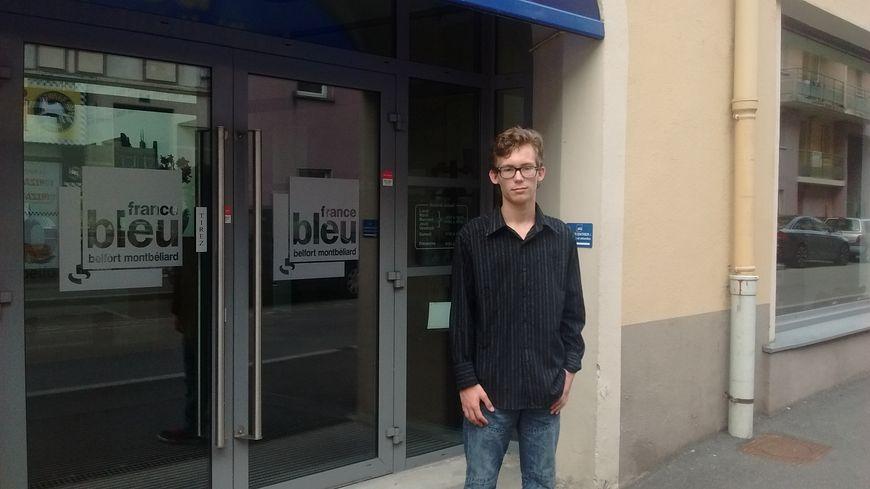 Noam, jeune porteur de projet participatif à Belfort