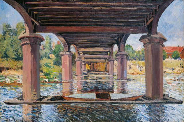 Sisley Sous le pont de Hampton Court 1874