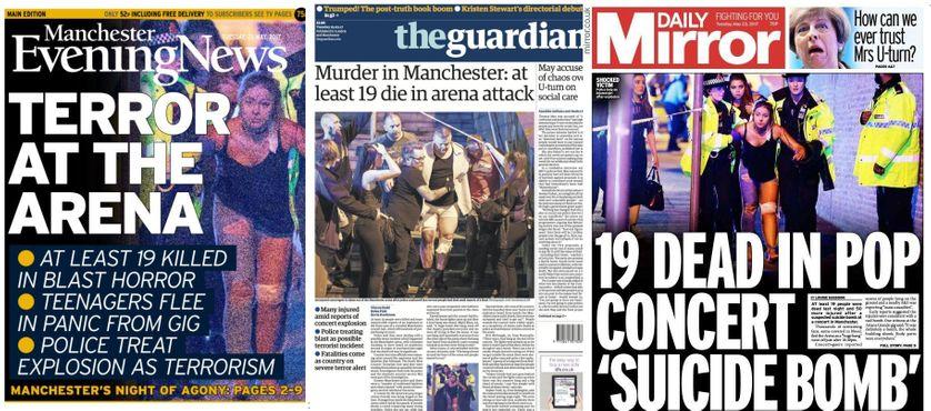 Explosion meurtrière à Manchester : les « unes » de la presse britannique