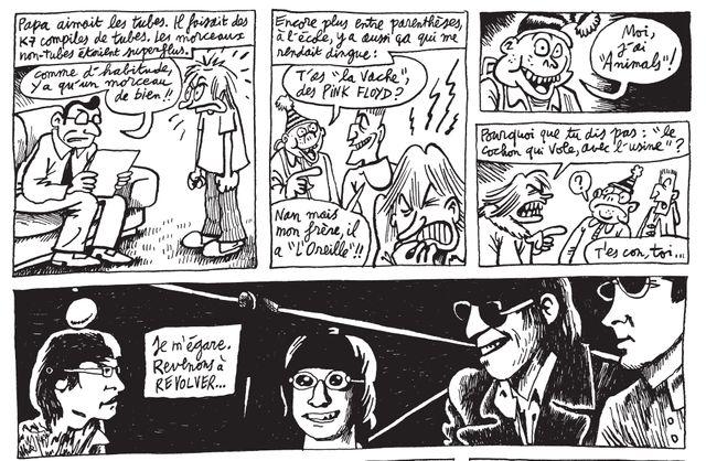 """Détail d'une planche de """"Lock Groove Comix"""" de Jean-Christophe Menu"""