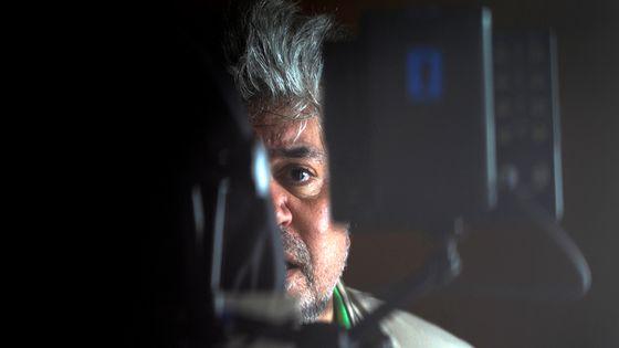 """Pedro Almodóvar sur le tournage de """"La piel que habito"""", en 2010."""