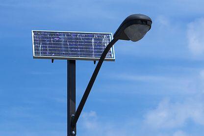 Lampadaire fonctionnant à l'énergie solaire