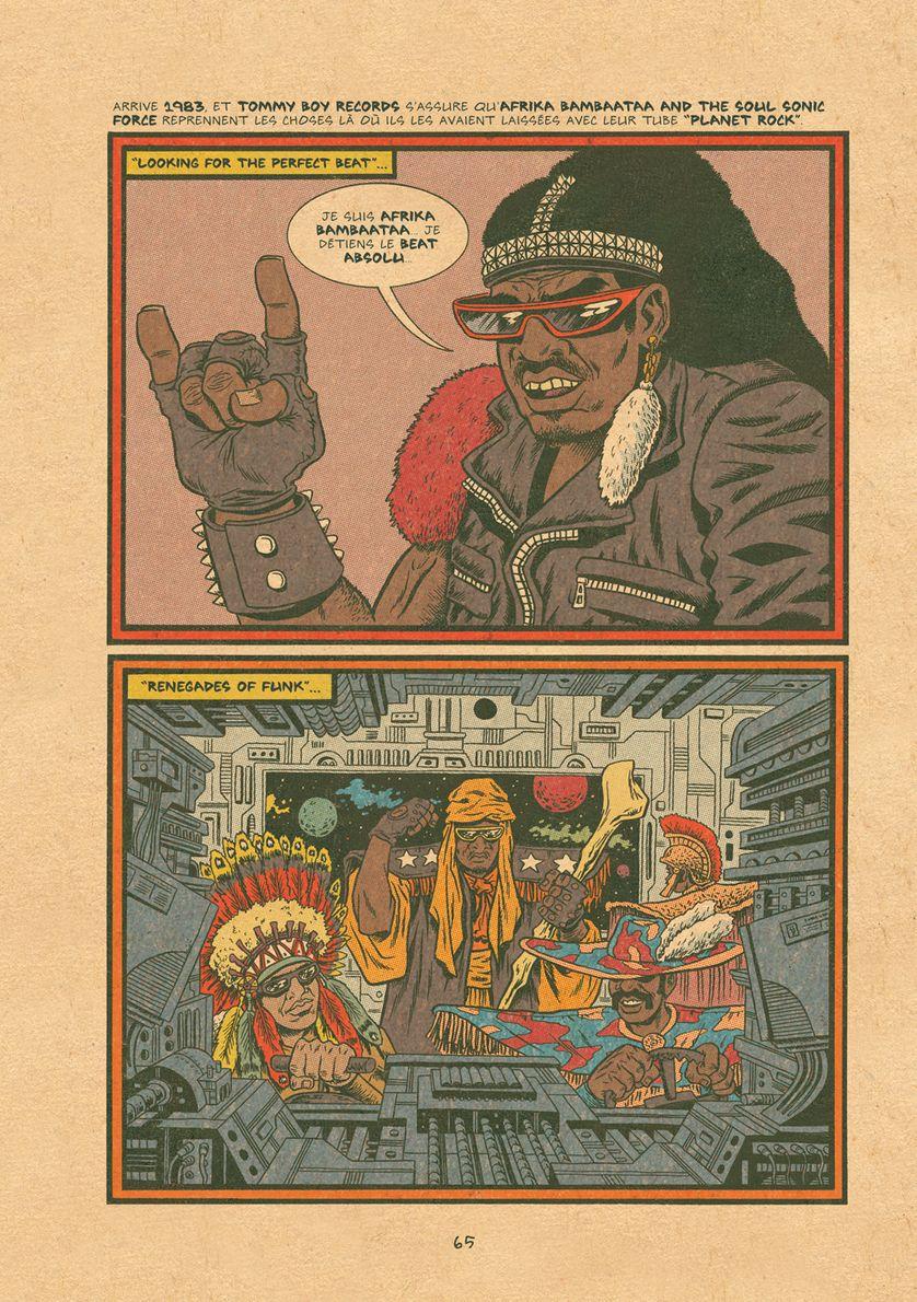 """Planche de """"Hip Hop Family Tree"""" de Ed Piskor"""