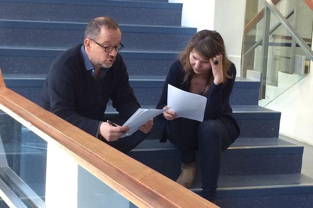 Thomas Legrand, c'est l'escalier, ou Marion Le Lay l'a rejoint pour une relecture de son texte