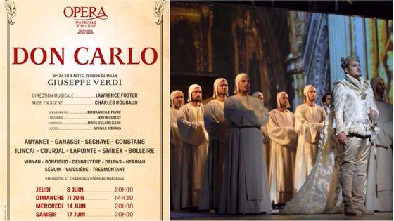 Inaugurée à l'Auditorium de Bordeaux en 2015, la production du Don Carlo mise en scène par Charles Roubaud est reprise et remaniée pour le plateau de l'Opéra de Marseille...