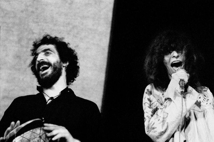Areski et Brigitte Fontaine en 1973, à la fête du PSU à Colombes