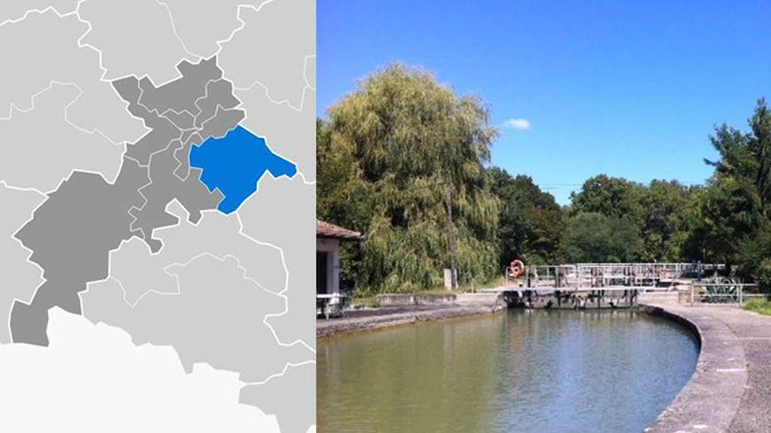 le canal du midi à Castanet Tolosan dans la 10e circonscritpion de Haute Garonne