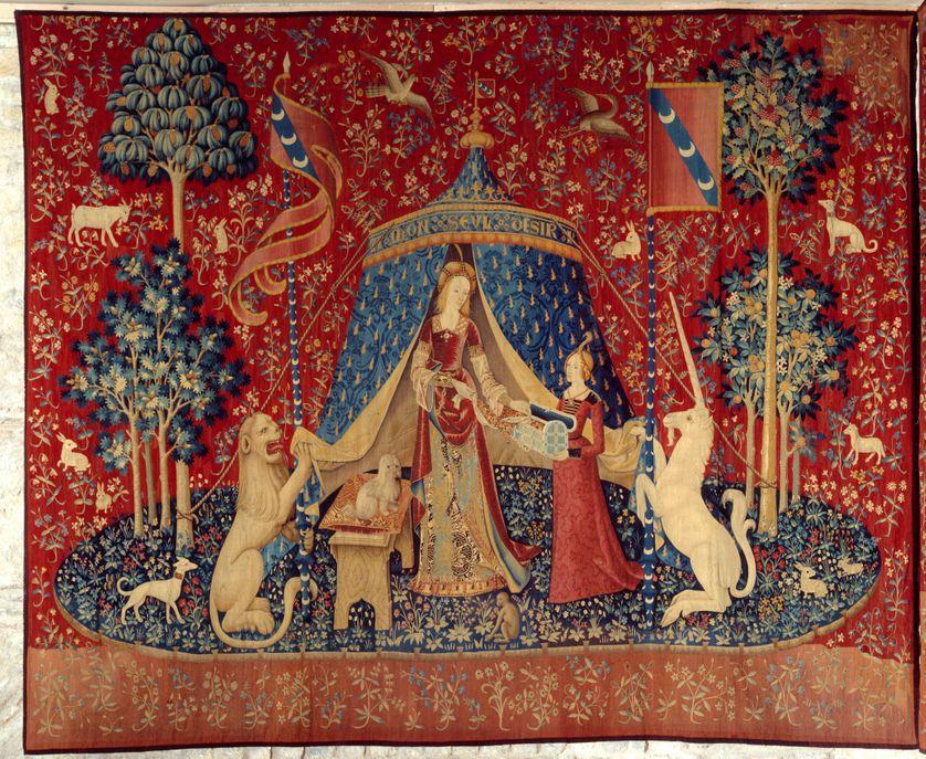 Tenture de la Dame a la Licorne (Dame à la Licorne) , Musée de Cluny