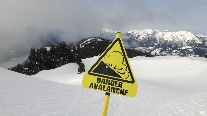 Un panneau de signalisation du danger d'avalanche (illustration)