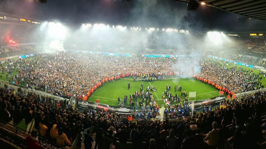 La fête au stade de la Meinau, le 19 mai 2017 à Strasbourg