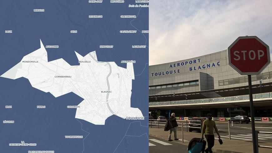 L'aéroportd e Toulouse Blagnac est situé sur la1re  circonscription de Haute Garonne