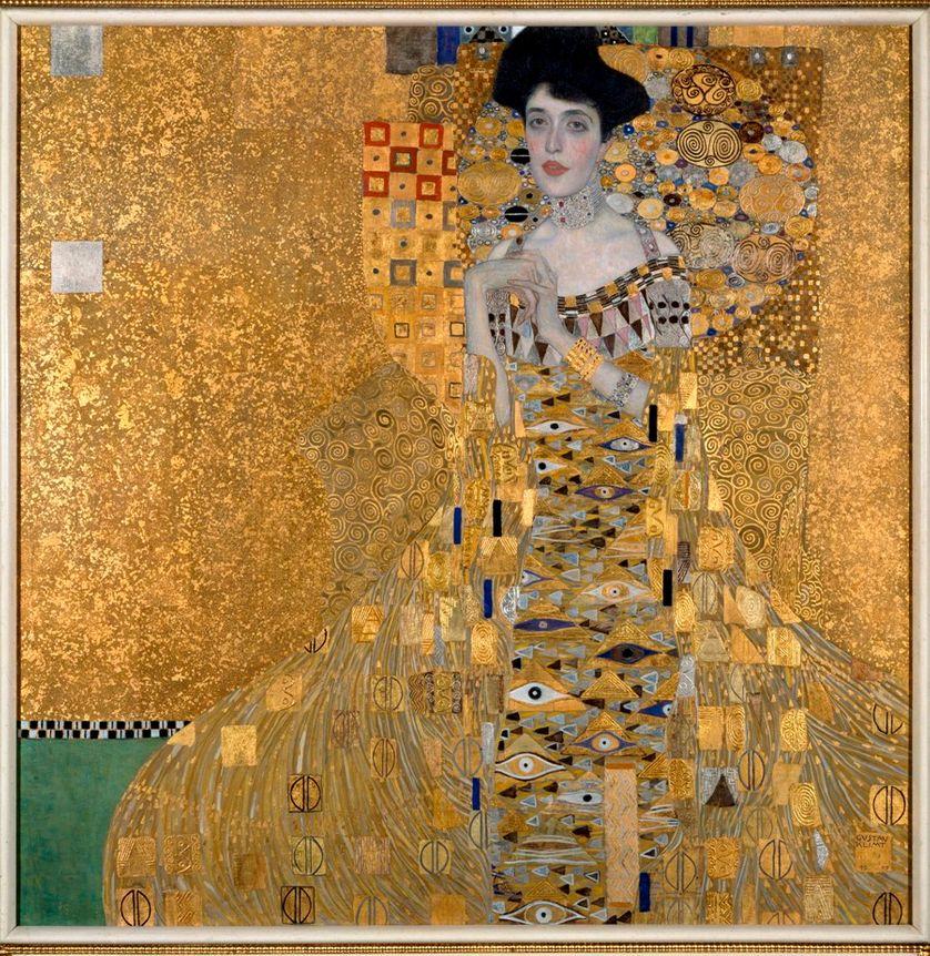 Portrait de Adele Bloch-Bauer, Peinture de Gustav Klimt (1862-1918), 1907.