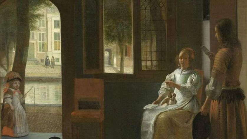Le tableau de Pieter de Hooch (au Rijksmuseum d'Amsterdam)