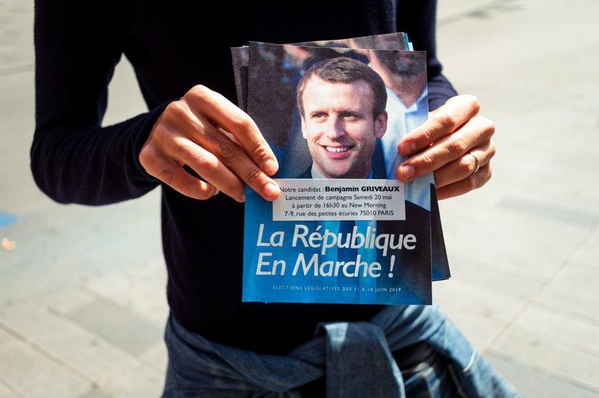 """Tract """"La République en marche"""" pour les élections législatives 2017"""